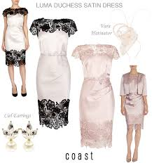 coast dresses uk pink satin and black lace dresses coast occasion