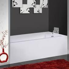 delano 59 inch x 32 inch white rectangle alcove soaking bathtub