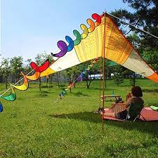 generic cloth rainbow spiral windmill garden ornaments tent