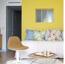 chambre et du jaune dans la chambre et pourquoi pas mobilier canape deco