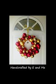 christmas ornament wreath with a wire hanger youtube
