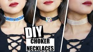 diy pendant choker necklace images Diy choker necklaces tutorial easy quick denim pendant jpg