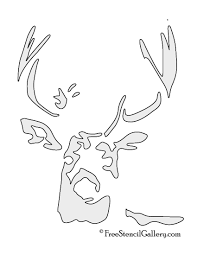 free printable halloween stencils for pumpkins deer stencil free stencil gallery