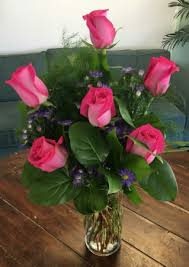 hot pink roses hot pink roses arrangement in bluffton sc berkeley flowers gifts