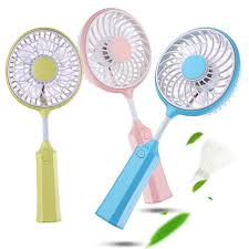 handheld fans new portable mini fan micro rechargeable badminton racket design