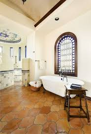 Spanish Style Bathroom by 20 Interiors That Embrace The Warm Rustic Beauty Of Terracotta