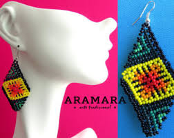 Native American Beaded Earrings Huichol Etsy Your Place To Buy And Sell All Things Handmade