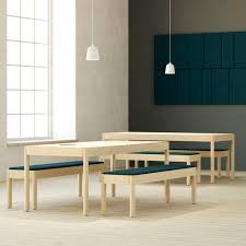 Bench And Table Set Contemporary Bench And Table Set Wooden Mdf Indoor