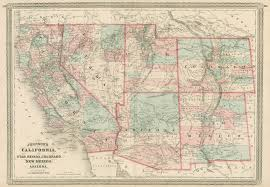 Arizona California Map by Johnson U0027s California Also Utah Nevada Colorado New Mexico And