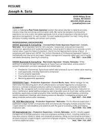 Real Estate Agent Resume Example by Sample Real Estate Market Analysis Real Estate Resume Sample