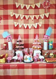 Circus Candy Buffet Ideas by Carnival 1st Birthday Candy Buffet Table Candy Bars Pinterest
