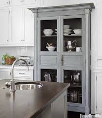 Kitchen Armoire Cabinets | chicken wire cabinet doors transitional kitchen house beautiful