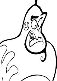 walt disney prince aladdin gin coloring page wecoloringpage