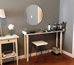 Glass Makeup Vanity Table Bedroom Contemporary Glass Make Up Vanity Table Top With White