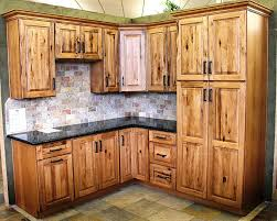 knotty hickory cabinets kitchen cabinet surprising rustic cabinets for home hickory kitchen