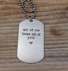 Custom Dog Tag Necklace Custom Dog Tag Hand Stamped Love Quote Gift For Him By Cmkreations