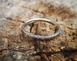 silver engagement ring gold wedding band wedding bands etsy