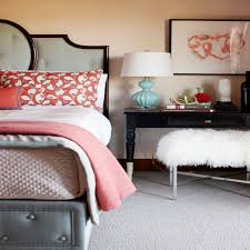 coral and grey bedroom bedroom decorating ideas on a budget
