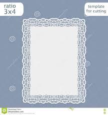 Wedding Invitation Card Templates Laser Cut Wedding Invitation Card Template With Openwork Border