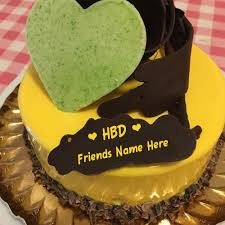 write best friend name on birthday cake online