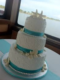 3 Tier Wedding Cake Jessica U201d 3 Tier White Wedding Cake With Seashells Swirls And
