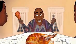 bill cosby explains the prehistoric origin of thanksgiving in a