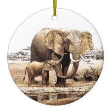 elephant drawing ornaments u0026 keepsake ornaments zazzle