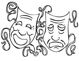 coloring pages comedy tragedy masks coloring