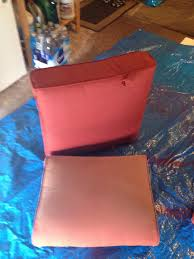 spray painted my outdoor cushions with krylon fusion paint