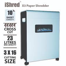 x3 home u0026 office paper shredder x3 paper cross cutting machine
