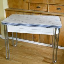 vintage kitchen table with enamel top video and photos