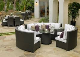 Outdoor Patio Furniture Sectionals Silver Coast Malibu 2 Piece Custom Outdoor Java Wicker Patio