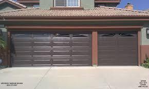 brown garage doors with windows and garage door design brown garage doors with windows and custom garage door thousand oaks to ventura garage doors replacement