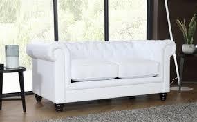 White Leather Chesterfield Sofa Hton White Leather Chesterfield Sofa 3 2 Seater Only 899 98
