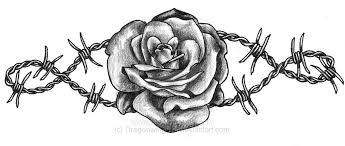 skull roses and barbed wire tattoo design photo 2 2017 real