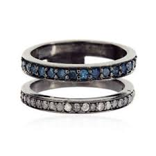 sterling silver wedding gifts 0 5 ct pave diamond designer band ring 925 sterling silver wedding