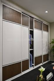 fashion showroom sliding door for wardrobe and room partition