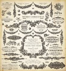 vintage christmas and new year 2013 ornaments vector 07 vector