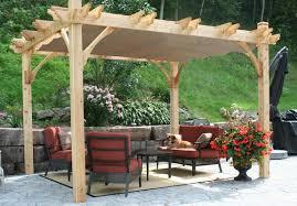 12 X 12 Pergola by 10 Foot X 12 Foot Cedar Pergola With Retractable Canopy