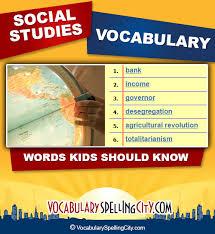 social studies vocabulary vocabularyspellingcity