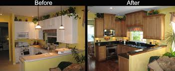 Before After Kitchen Cabinets Mobile Home Kitchen Cabinets Remodel Tehranway Decoration