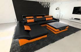 Orange Table L Modern Corner Sofa Chicago Led L Shaped