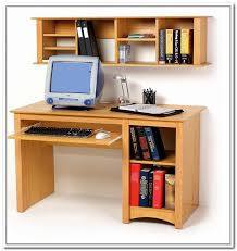 Computer Desks With Storage Computer Desk With Shelves Above