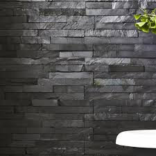 Bathroom Slate Tile Ideas 15x60cm Slate Black Split Face Tile Patio Pinterest Slate