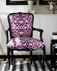 Purple Ikat Curtains Ikat Fabric Uphostered Chair The Style Files