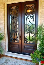 metal front doors with glass solid wood double front doors with glass and wrought iron arched