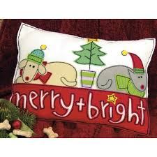 merry u0026 bright felt pillow kit christmas felt kits at weekend kits