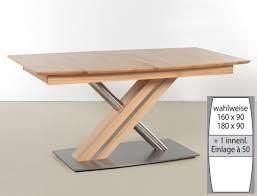 Esszimmertisch 90 X 90 Ausziehbar Säulentisch Ataro C 1xl Bootsform Tisch Ausziehbar X Form Esstisch