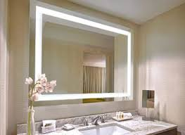 electric lighted bathroom mirror essential lighted bathroom realie