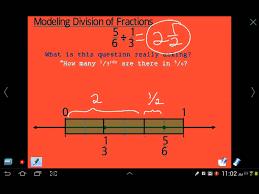 modeling division of fractions number line model youtube
